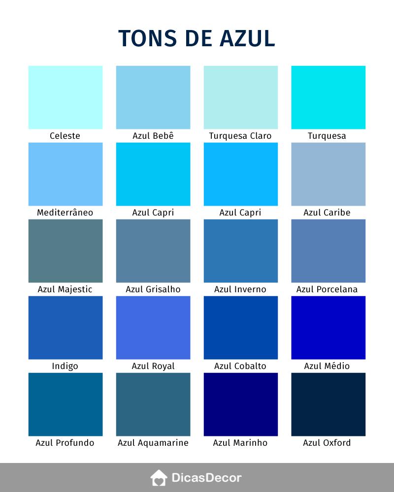 tabela tons de azul