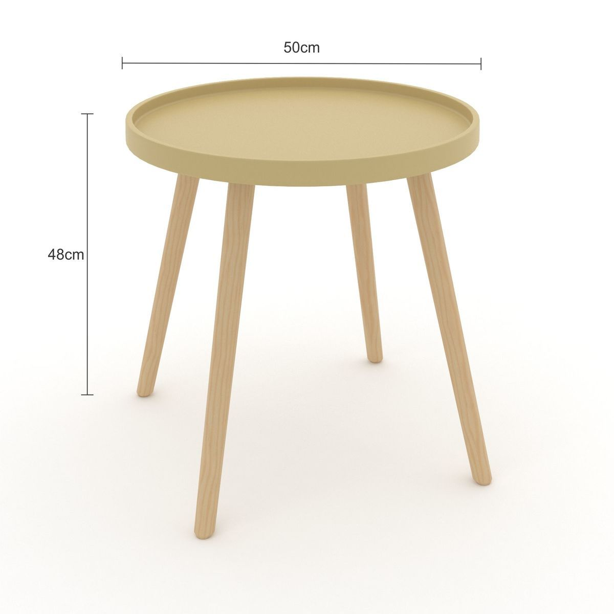 mesa lateral de madeira pequena