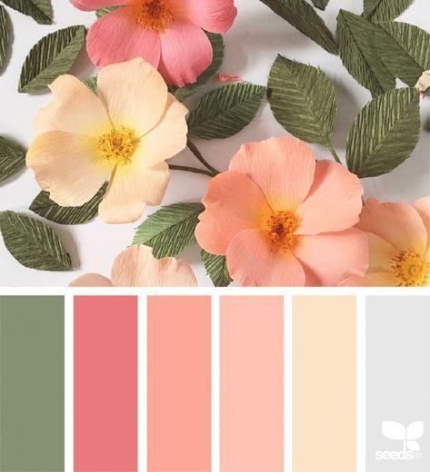 paleta de cores jardim encantado