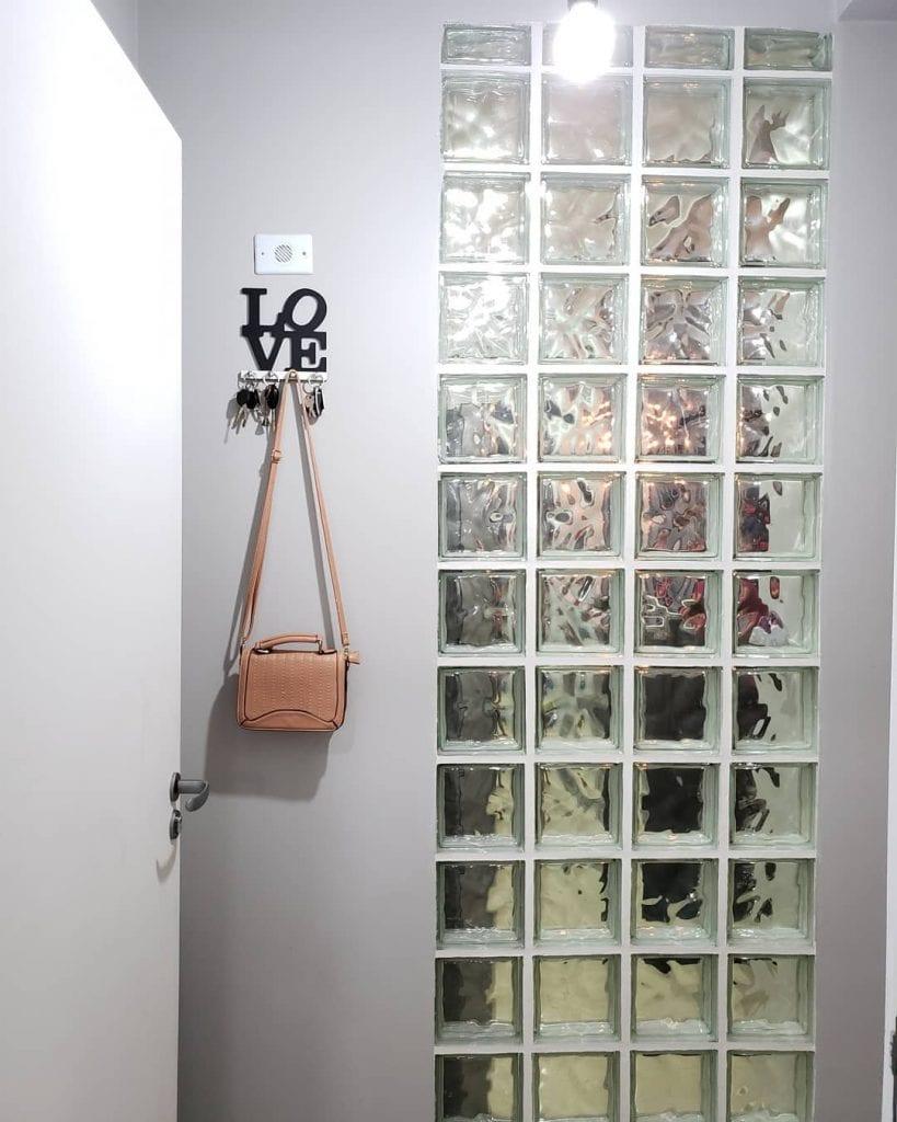 tijolo de vidro corredor entrada de casa