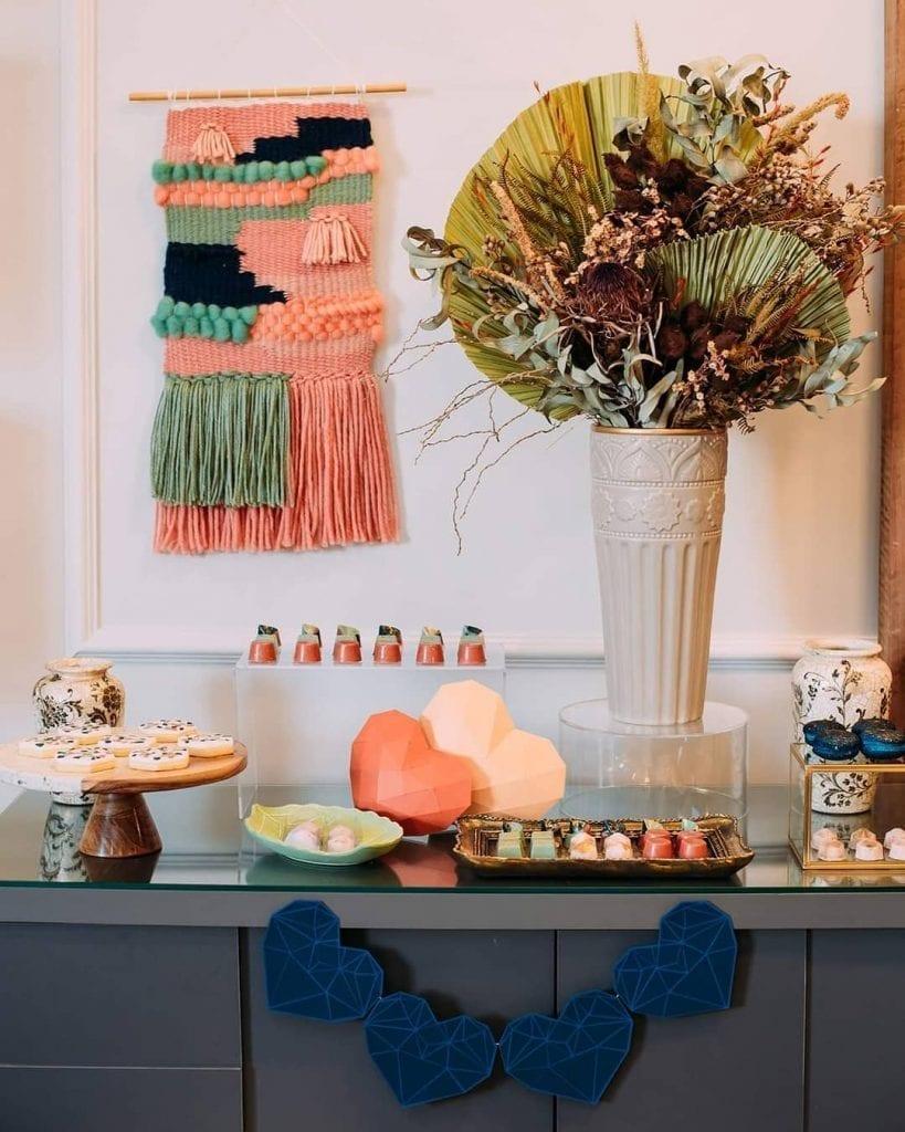 tapeçaria moderna na decoração de casa