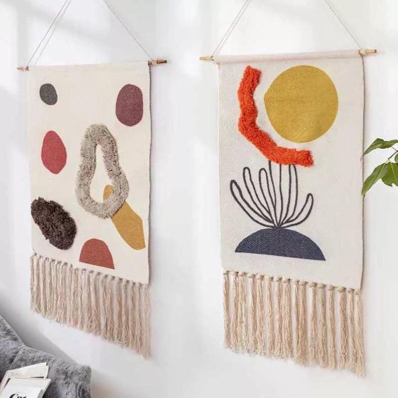 conjunto de tapeçarias modernas