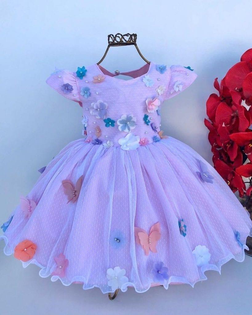 roupa aniversariante vestido festa jardim encantado