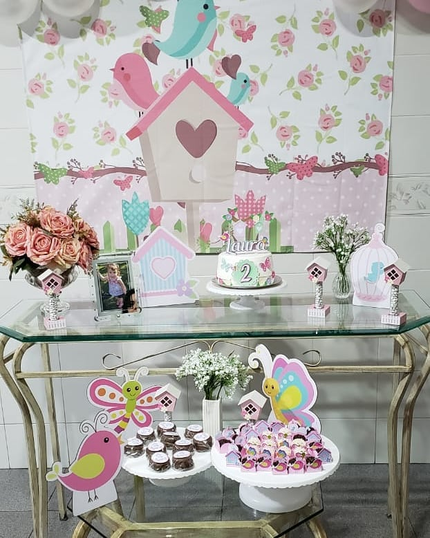 decoração simples festa jardim encantado