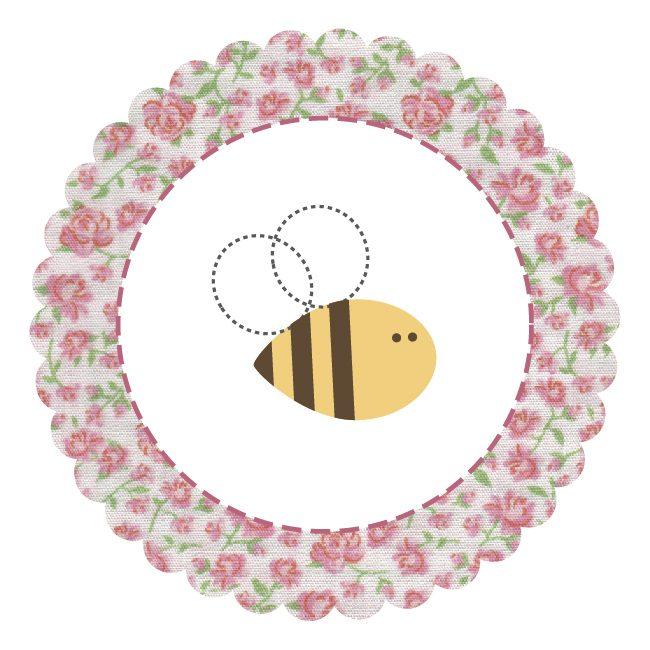 arte imprimir festa jardim encantado abelha