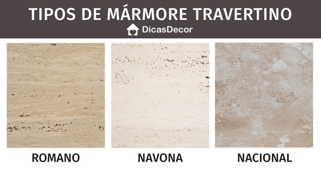tipos de marmore travertino