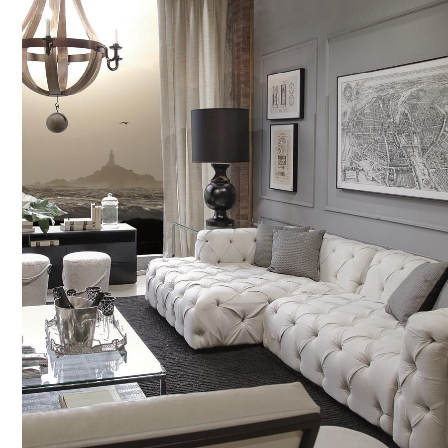 sofa chesterfield sierra veludo branco