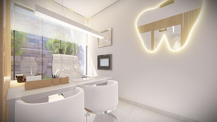 decoração em cores claras para consultorio odontologico