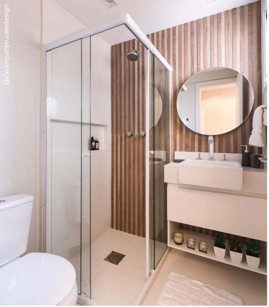 banheiro quadrado moderno e requintado