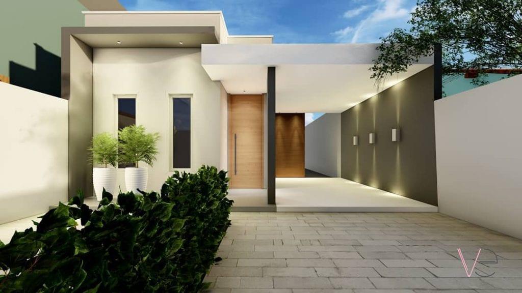 fachada de casa popular moderna e clean