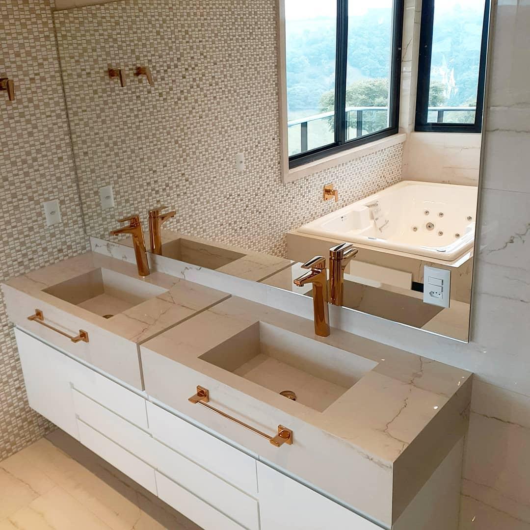 Bancada Dupla No Banheiro 48 Incriveis Inspiracoes Dicas Decor