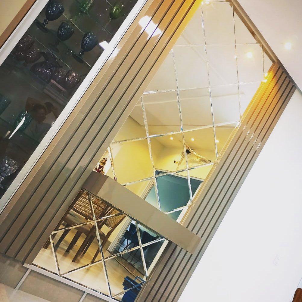 espelho bisotado losango