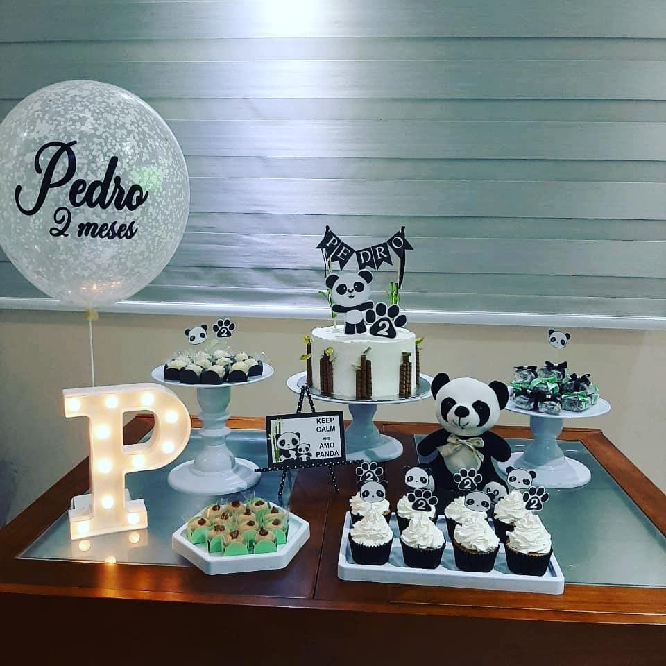 festa mesversario tema panda