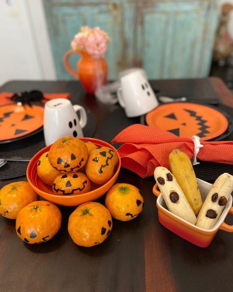 mesa posta de halloween