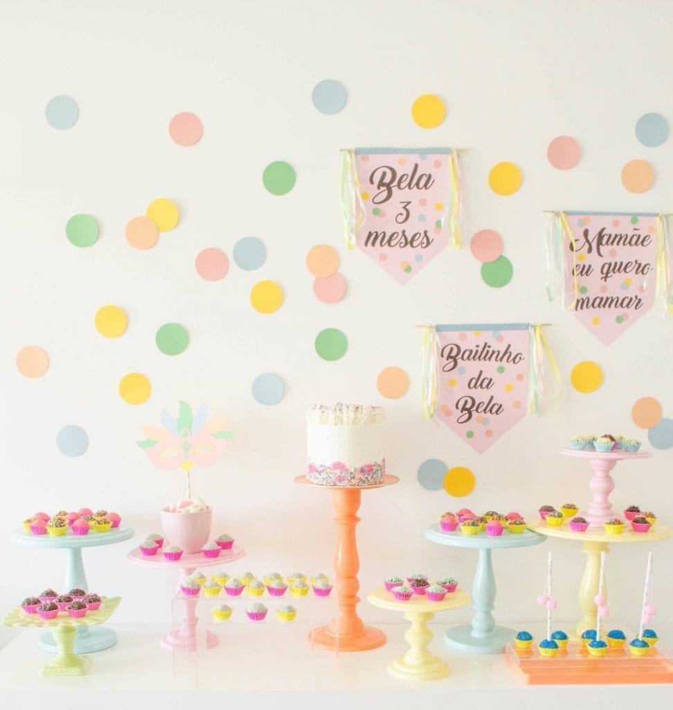 festa mesversario simples
