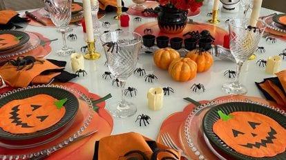 mesa posta tema halloween