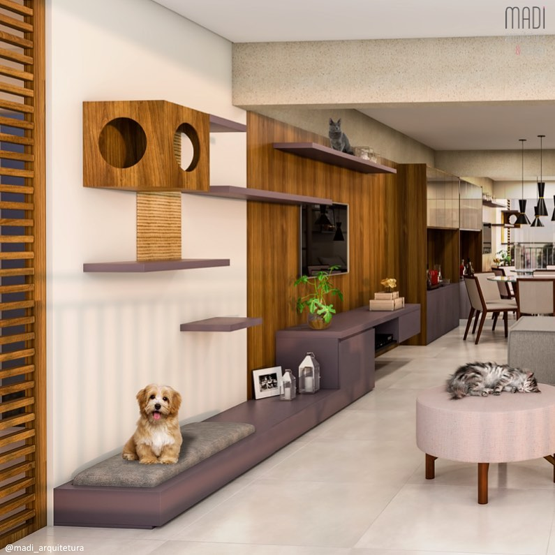espaço para pets em apartamento
