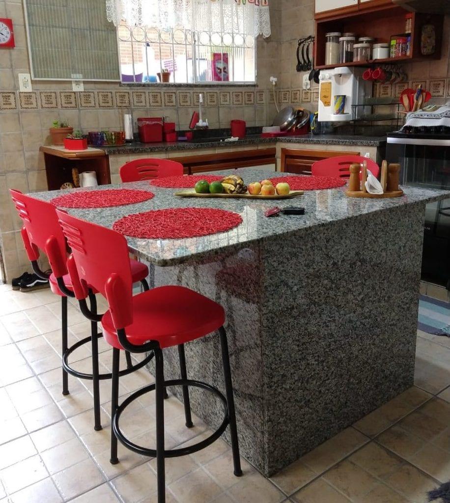 granito cinza ocre cozinha