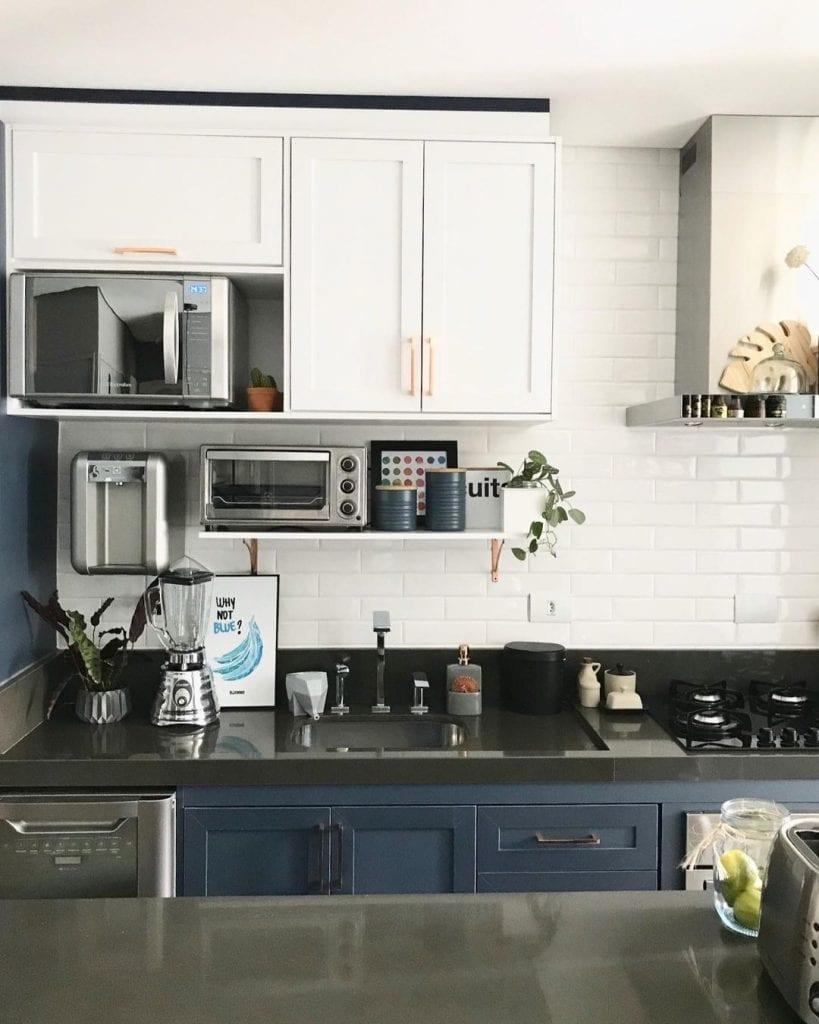 bancada de cozinha em granito cinza absoluto