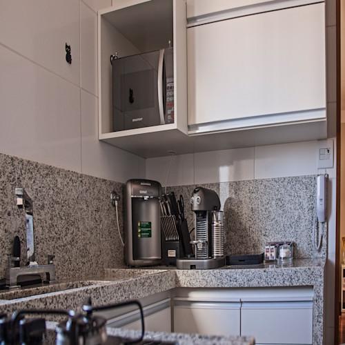 cozinha em granito cinza arabesco