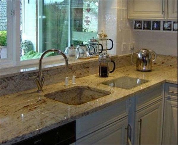 bancada de cozinha em granito marrom hawaii