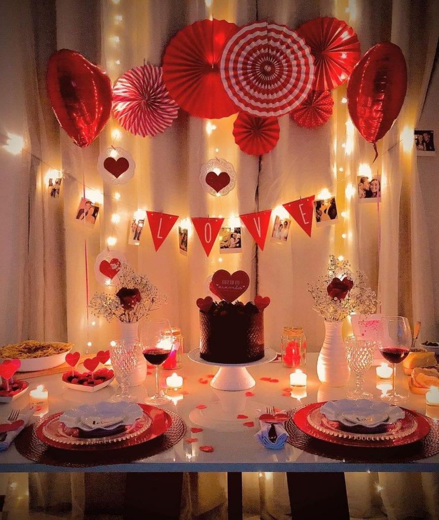como fazer decoração de dia dos namorados