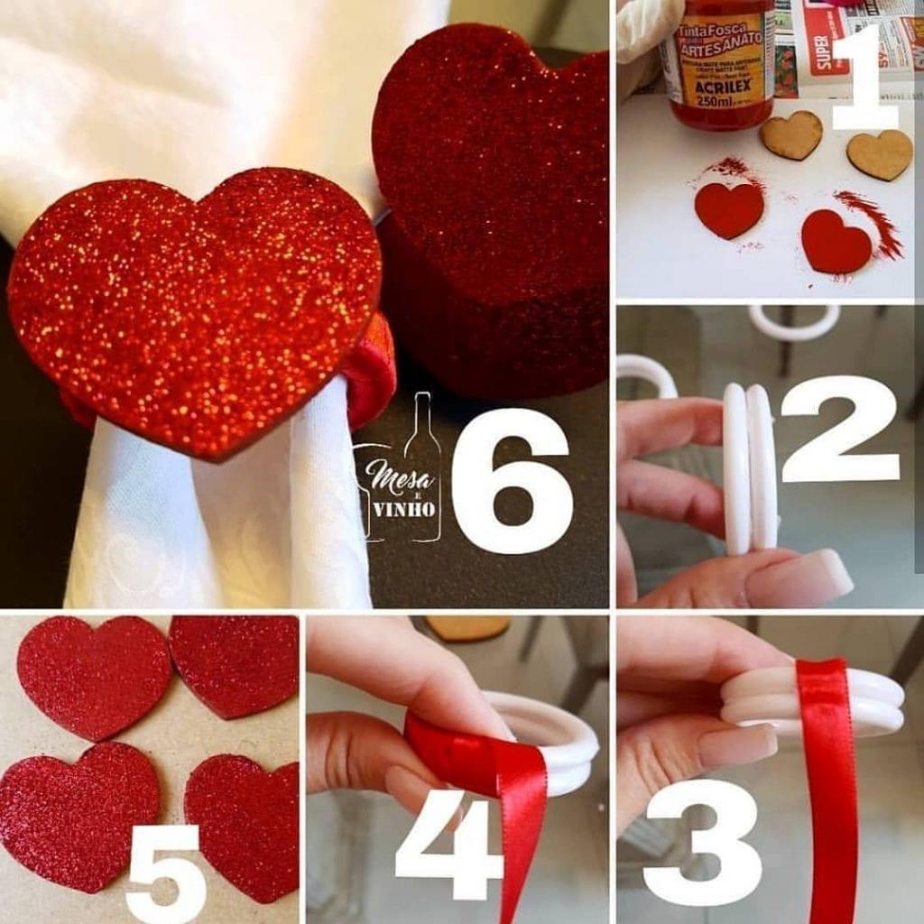 como fazer decoração de dia dos namorados simples